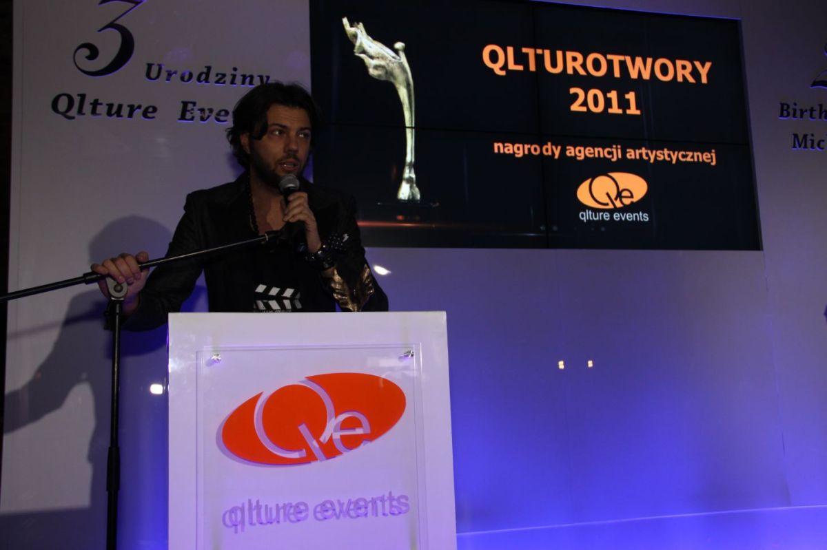 Olivier Janiak na imprezie urodzinowej Qlture Events i Michała Szpaka